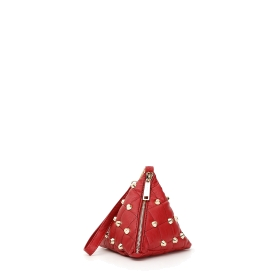 Mini bag piramide con borchie