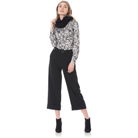pantaloni coulotte in tessuto superstretch