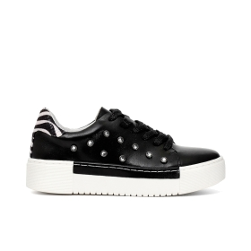 Sneakers in vitello con strass