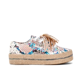 Sneakers pitonata in similpelle