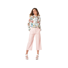 Pantaloni coulotte in pizzo