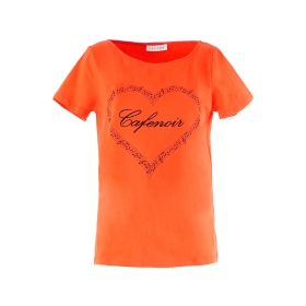 T-shirt stampa cuore e note