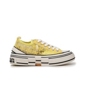 SNEAKERS IN PIZZO FLOREALE Giallo 36