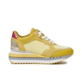 SNEAKERS MULTIMATERIALE CON ZEPPA Giallo 35