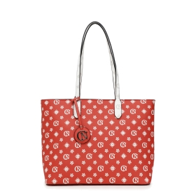 SHOPPING BAG STAMPA ALL OVER Rosso TGU