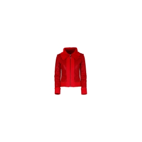 Chiodo simil-shearling Rosso