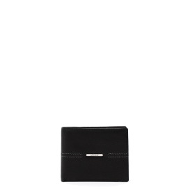 Wallet with seam and central plate