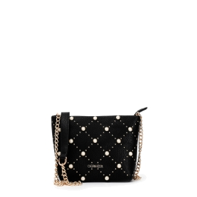 Clutch bag with pearls and studs