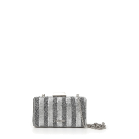 Clutch bag with stripy sequins