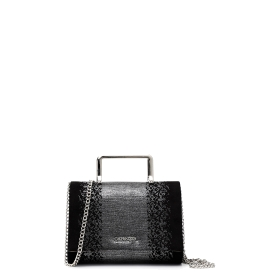Clutch bag with metal strap