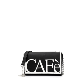 Two-tone clutch bag with CafèNoir patch