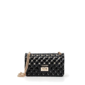 Rubber quilted-effect mini bag