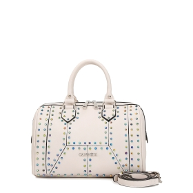 Bowling bag with two-tone studs