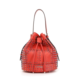 Bucket bag with two-tone studs