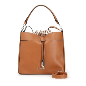 Shopping bag with striped interior