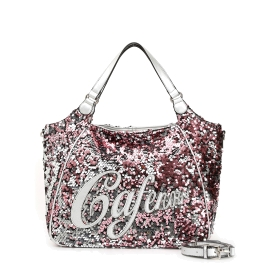 Shoulder bag with two-tone sequins