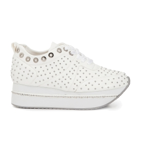 Maxi sole sneakers with small studs