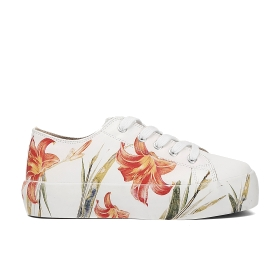 Sneakers with flower tattoo