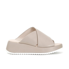 Crossover slip-on shoes in imitation leather