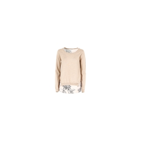 Top with patterned viscose back