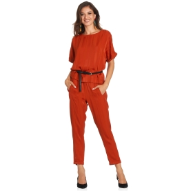 Regular-fit patent trousers