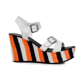 Gilda sandals with striped wedge
