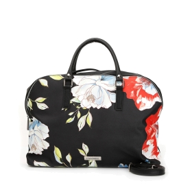 Maxi bowling bag in patterned fabric