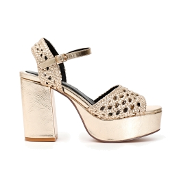 Faux leather woven Gilda sandals