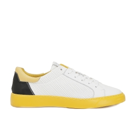 Microperforated leather sneakers