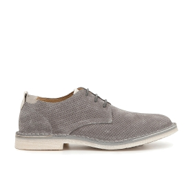 Split leather perforated brogues