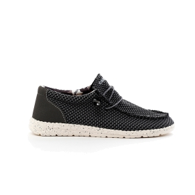 Fabric lace-up sneakers
