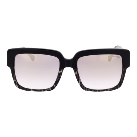 Square sunglasses with animal print details
