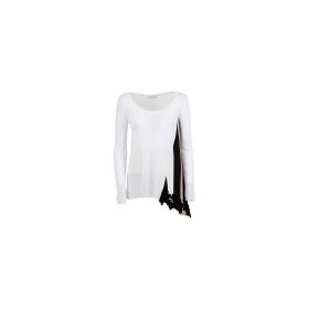Pull avec application en viscose