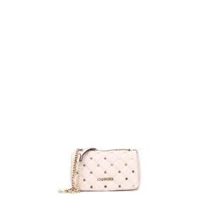 QUILTED CLUTCH BAG WITH HEXAGONAL STUDS