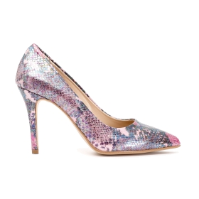 Exclusive: Court shoes in imitation python leather