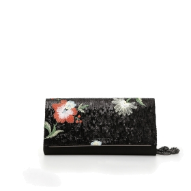 Clutch bag with sequin embroidery