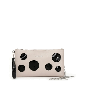 Clutch bag with lasered perforations