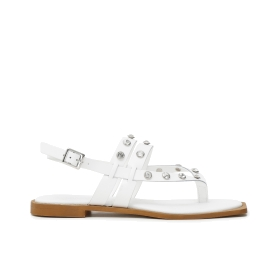 Sandals with ankle strap on a high patchwork wedge