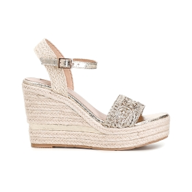 Special Price: Gilda sandals with cord wedge