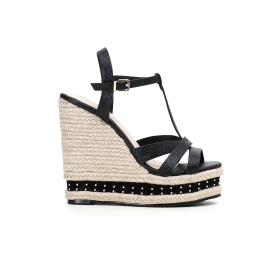 Special Price: Sandals with cord wedge