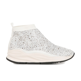 Stretch sneakers with rhinestones