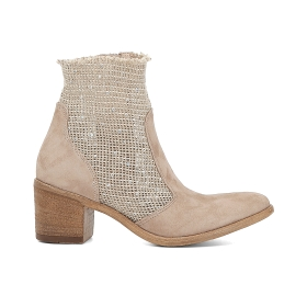 Stretch mesh ankle boots