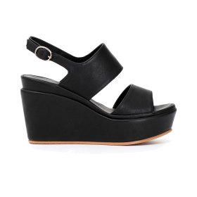Leather Jesus sandals with wedge bottom