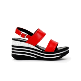 Two-strap leather Jesus sandals