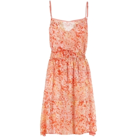 Short flounce dress with thin straps