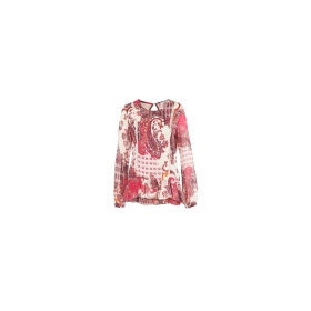 Printed blouse with passementerie