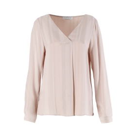 Long-sleeve shirt with V-neck