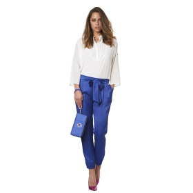 Soft trousers with a sash