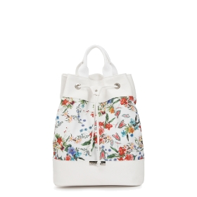 Patterned fabric backpack