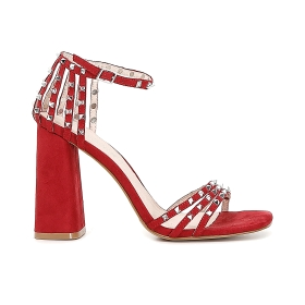 Sandals with square studs